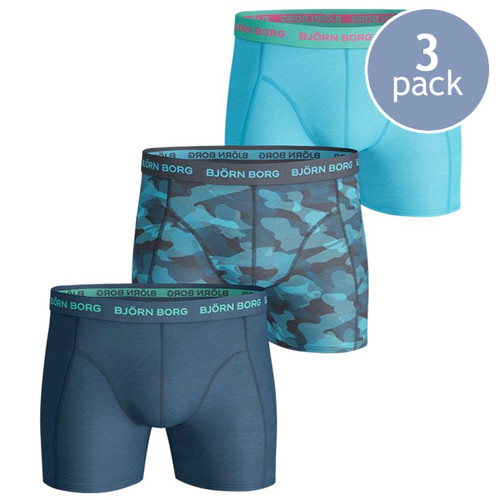 Björn Borg Boxershorts Camoline Blue - 3 Pack (1)